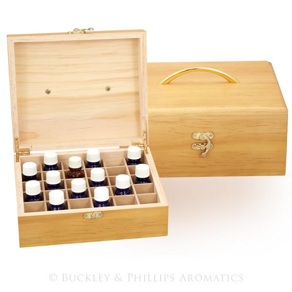 Wooden Oil Storage Box - 30 Compartment